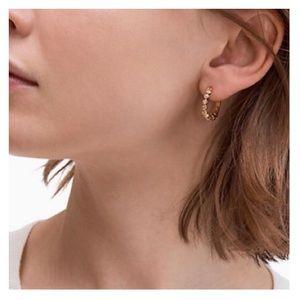 KATE SPADE Rosegold Full Circle Huggies Earrings